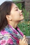 twarzy azjatykcia kobieta Zdjęcia Royalty Free