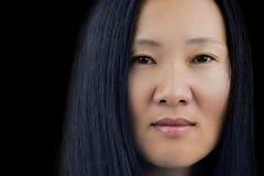twarzy azjatykcia kobieta s Obrazy Royalty Free
