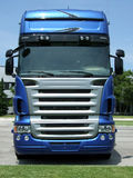 twarzy błękitny ciężarówka fotografia royalty free