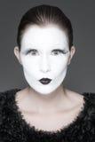 Twarzy biały dziewczyna obraz royalty free