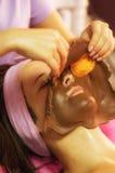 Twarzy czekoladowa maska Obrazy Royalty Free
