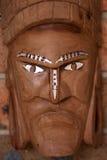 Twarzy drewniana plemienna maska Zdjęcia Royalty Free