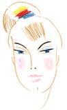 twarzy dziewczyna royalty ilustracja