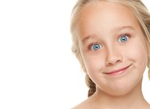 twarzy dziewczyny śmieszny robić Zdjęcia Stock