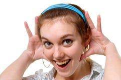 twarzy dziewczyny niespodzianka Fotografia Stock
