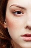 twarzy dziewczyny przyrodni portret s fotografia stock