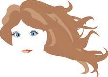 twarzy dziewczyny włosy długi s wektor Obraz Royalty Free