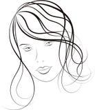twarzy dziewczyny wizerunek ilustracji