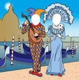 twarzy dziura Venice Obrazy Royalty Free