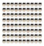 80 twarzy emocj Zdjęcia Royalty Free