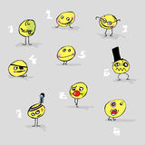 Twarzy emoticons ilustracja wektor