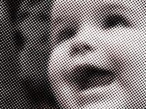 twarzy halftone dzieciak Obrazy Royalty Free