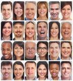 twarzy inkasowi ludzie Obrazy Royalty Free