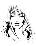 twarzy kobieta royalty ilustracja