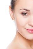 twarzy kobiety połówka obrazy royalty free