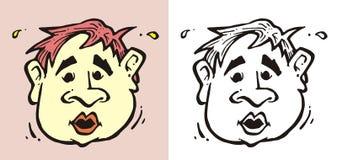 Twarzy kreskówki 1 no! no! Fotografia Stock