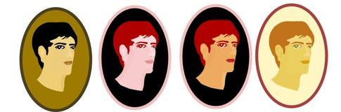 twarzy mężczyzna retro s styl Obrazy Royalty Free