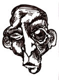 twarzy małpy mrugnięcie Obrazy Stock
