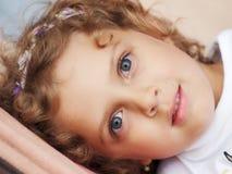 Twarzy mała dziewczynka Zdjęcie Royalty Free