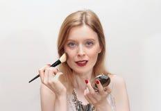 Twarzy makeup Zdjęcia Stock
