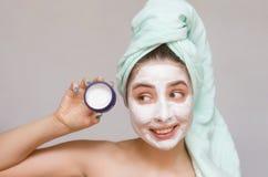 Twarzy maska Twarzy skóry opieka Obrazy Stock