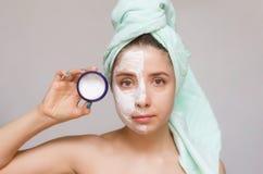 Twarzy maska Twarzy skóry opieka Obraz Stock