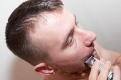 twarzy mężczyzna golenie Fotografia Stock