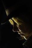 twarzy nastoletni profilowy Zdjęcie Royalty Free