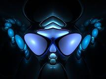 twarzy obcy fractal ilustracja wektor