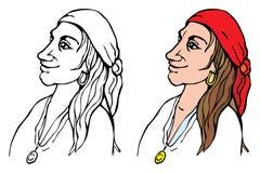 twarzy obrazu pirat Zdjęcia Stock