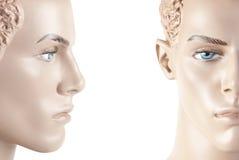 twarzy odosobniony męski mannequin studio Fotografia Royalty Free