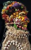 twarzy owoc zrobili warzywa Zdjęcie Stock