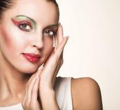 twarzy piękna kobieta Fotografia Royalty Free