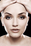 twarzy piękni womans Fotografia Royalty Free
