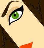 twarzy połówki kobieta ilustracja wektor