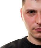twarzy przyrodni mężczyzna biel Obrazy Royalty Free