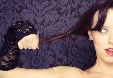 twarzy przyrodnia portreta kobieta fotografia royalty free