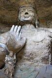 twarzy ręki Buddha Datong porcelanowe groty Fotografia Stock