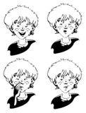 Twarzy rozochocona chłopiec z wyrażeniem emocja ilustracji