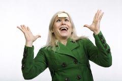 twarzy ruchliwie wyrażeniowa kobieta Obrazy Royalty Free