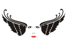 twarzy skrzydła Obraz Royalty Free