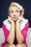twarzy szalona dziewczyna Zdjęcia Stock