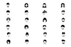 Twarzy Wektorowe ikony 2 royalty ilustracja