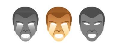 twarzy wydrążenie Obrazy Stock