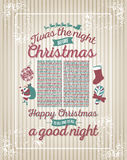 Twas the night before Christmas illustration Stock Images