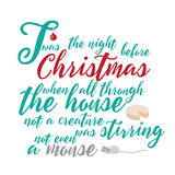 Twas the night before Christmas illustration Stock Photos