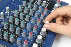 Tweaking Sound Board stock photography