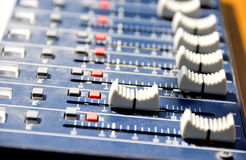 Tweaking sound board Stock Photos