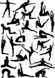 Tweeëntwintig dansers Stock Foto's