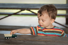 Twee éénjarigenjongen Stock Foto